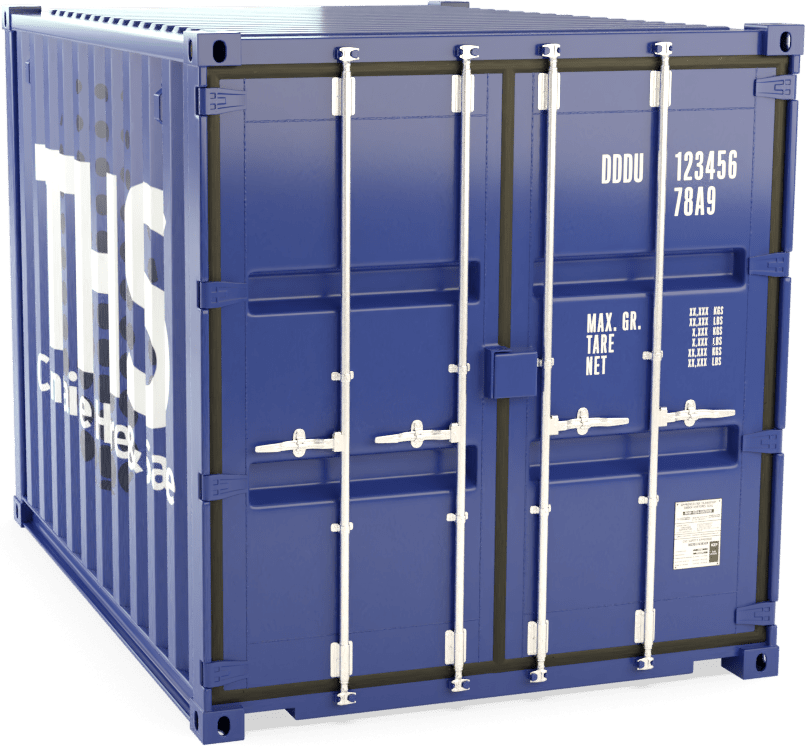 10 Foot Shipping Container Render