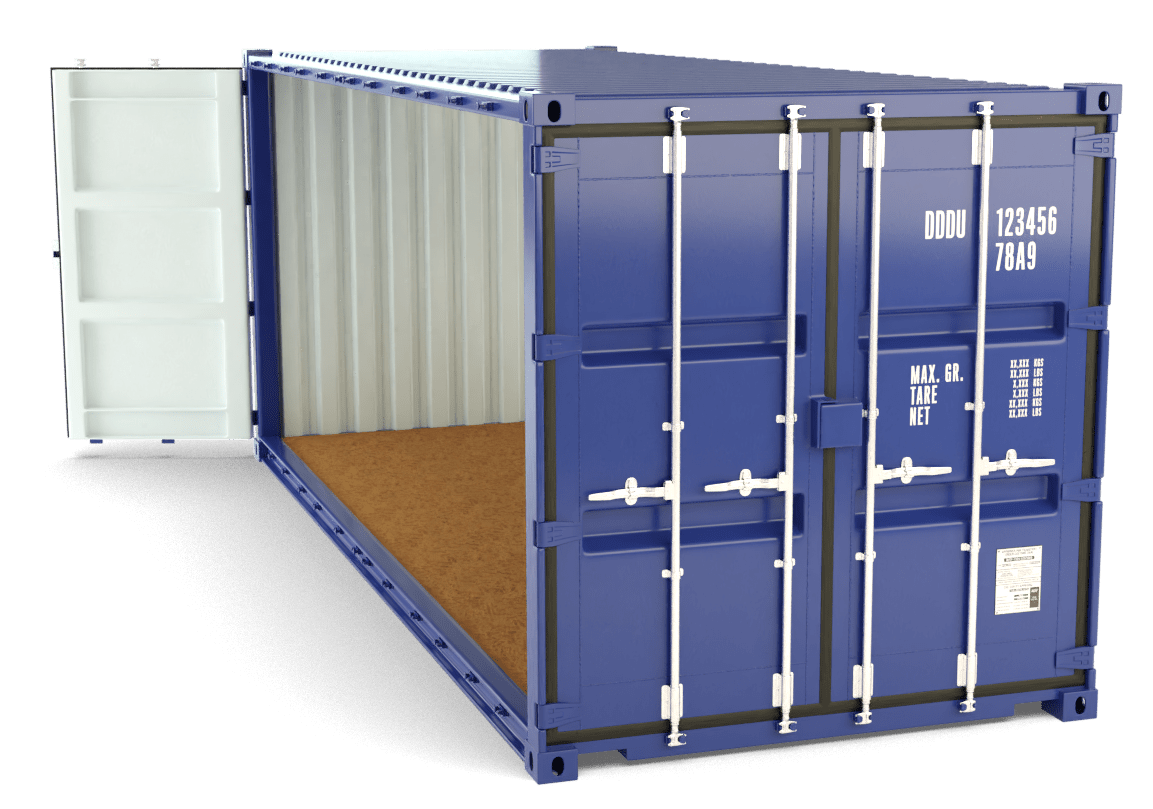20 Foot Open Sided Container