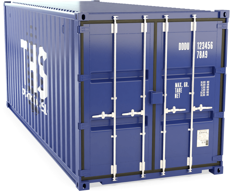20 Foot Shipping Container Render