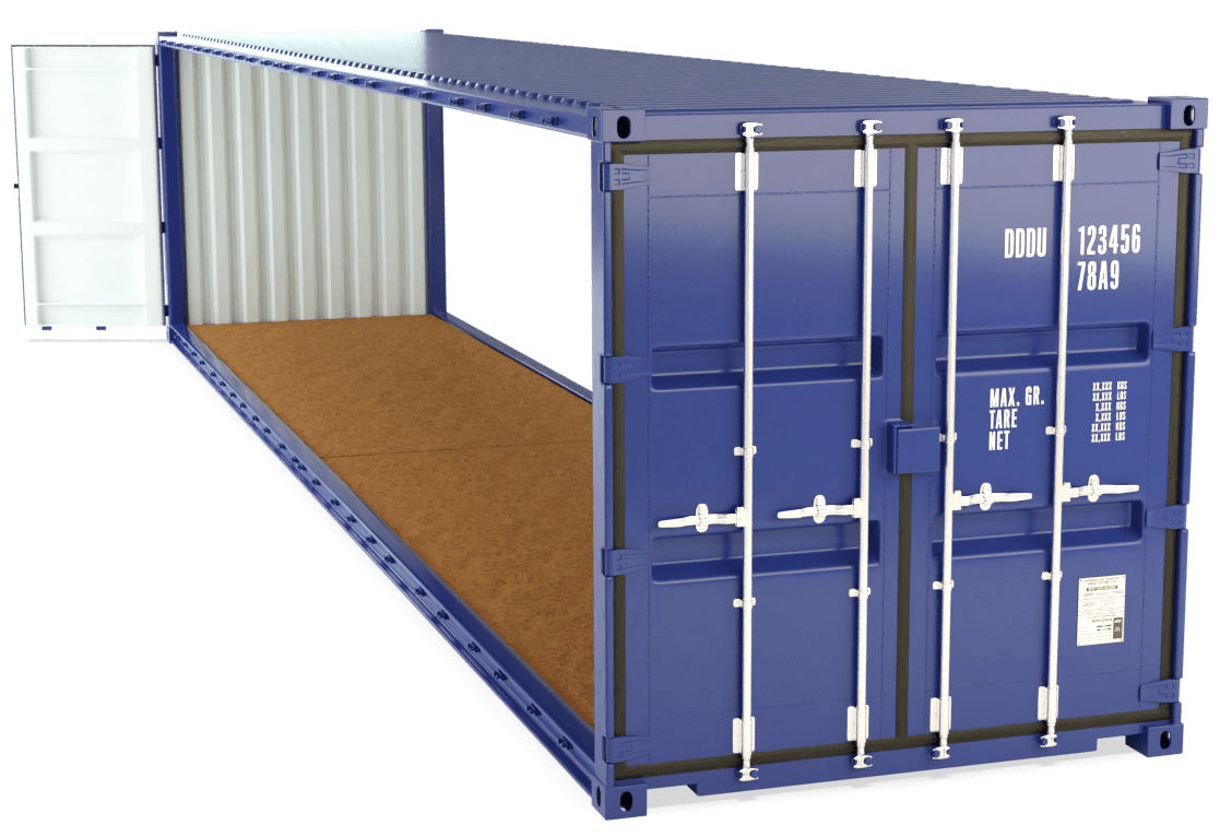 40 Foot Open Sided Container