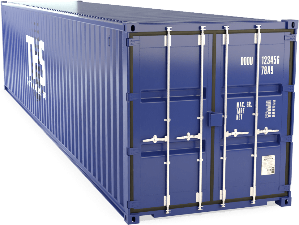 40 Foot Shipping Container Render