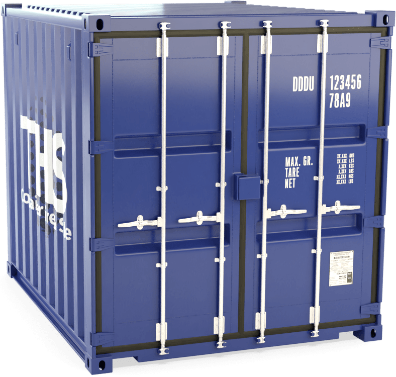 8 Foot Shipping Container Render